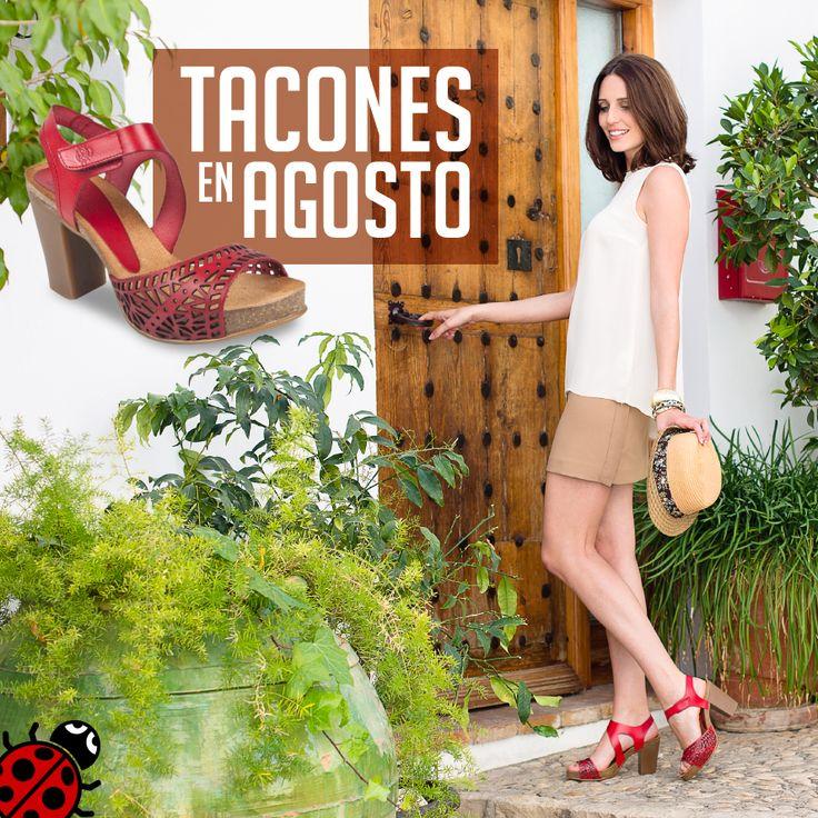 Look perfecto para comenzar una tarde con los amigos. #Sol #Verano #LookVeraniego #Zapatos #Yokono #Moda #MadeInSpain #Ropa #SandaliasRojas