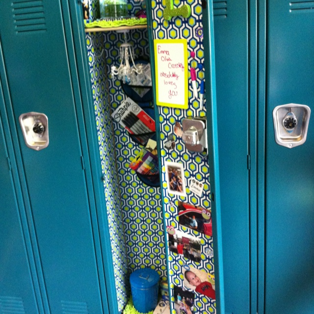 Middle School Locker. Don't go to school yet I love this.