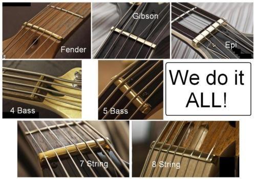 Guitartechs hecho en Estados Unidos envío gratuito 42 mm Tuerca de Latón para Guitarra Fender Squier Strat..