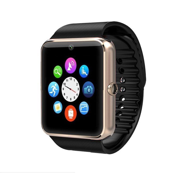Marke Neue Smart Uhr GT08 Uhr Sync Notifier Unterstützung Sim-karte Bluetooth Konnektivität Für Apple iphone Android Telefon Smartwatch //Price: $US $15.63 & FREE Shipping //     #meinesmartuhrende