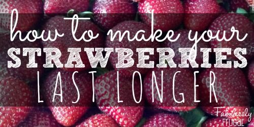 Make your strawberries last for weeks instead of days using this tip! I saw this tip on making your strawberries last longer (I can't even remember where now) but I tried it and this bunch of strawberries lasted for almost two WEEKS in the fridge after using this soak on them! It is really easy,… Read More