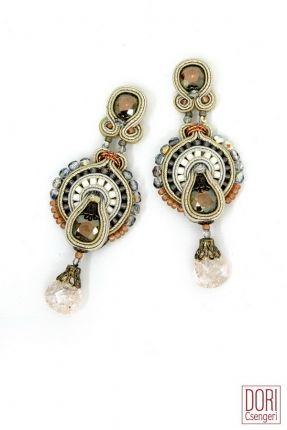 Thalia crystal drop bridal earrings by Dori Csengeri