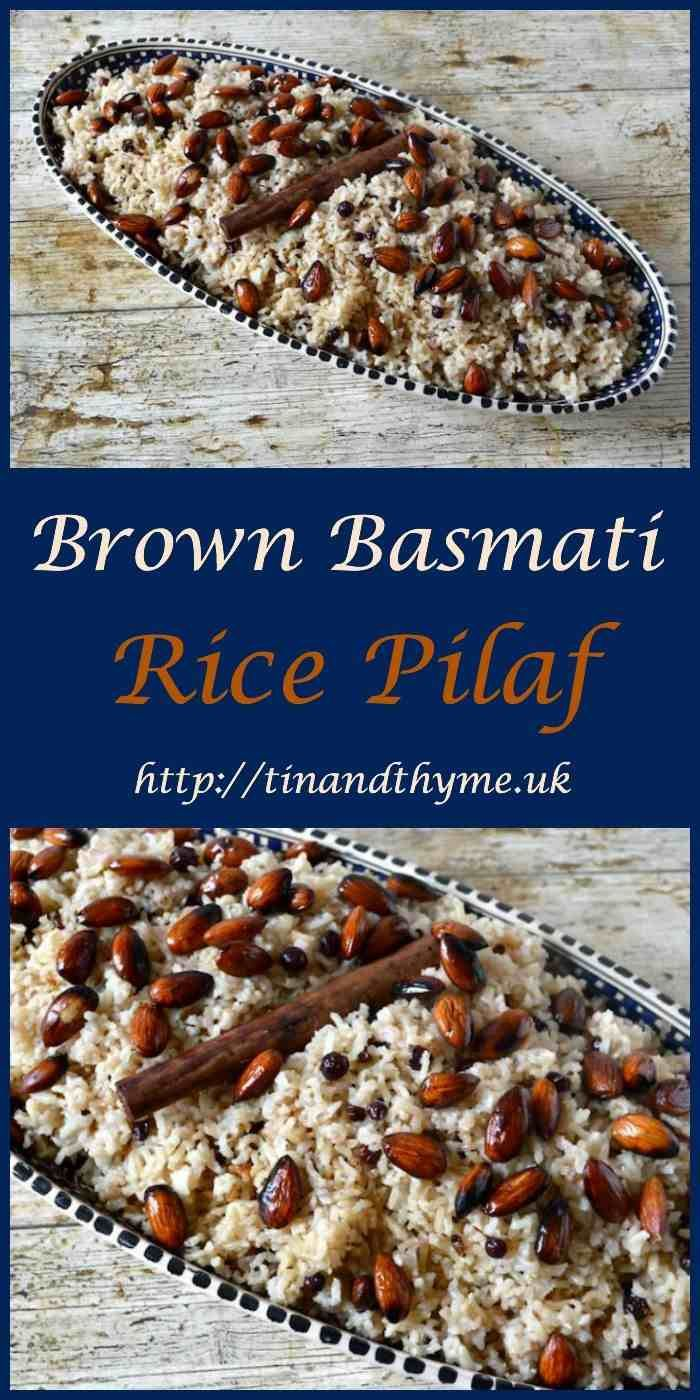 Brown Basmati Rice Pilaf from @choclette for #SumaBloggersNetwork