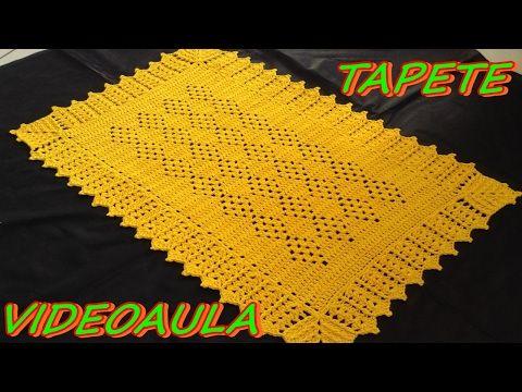 Como fazer tapete para pia de cozinha - YouTube