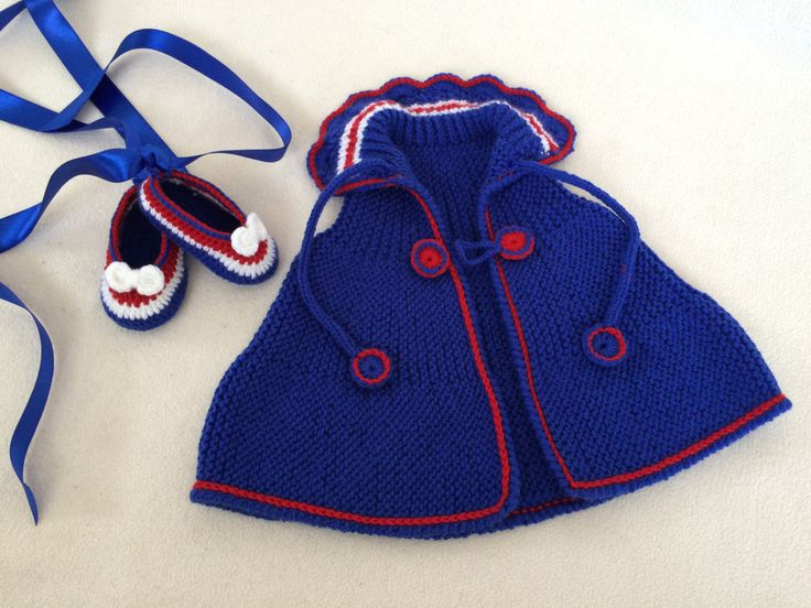 Baby Ballerina Shoes And Poncho, New York Rangers Colors, Gift Set by Minnoshko on Etsy