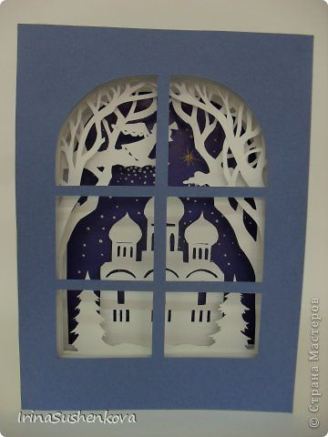 Рождественские открытки своими руками страна мастеров