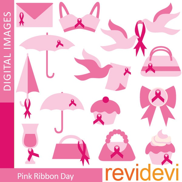 Buy 5 get 5 free Pink Ribbon Day Clipart 07342  by revidevi, $4.95