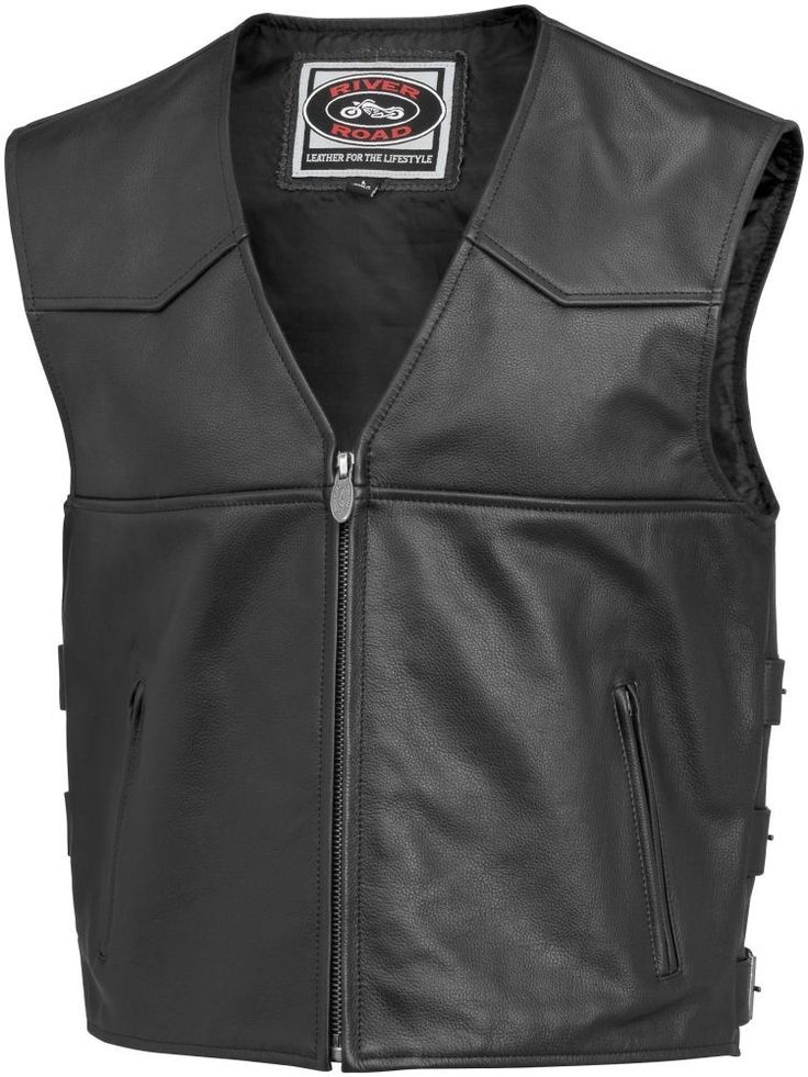 River Road Plains Street Riding Leather Motorcycle Vest