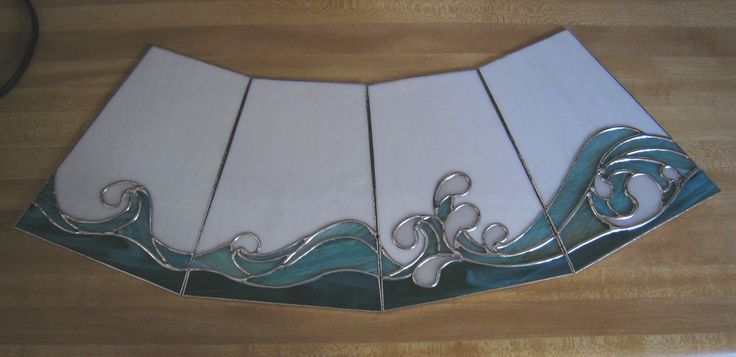 stained glass wave patterns | Posted in Cool glass , Custom