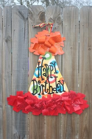 cute to hang from the classroom door if its a kiddos birthday!