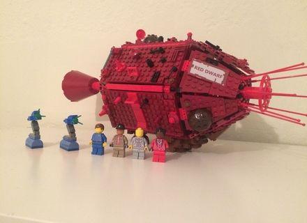 Lego Custom Red Dwarf and Figures
