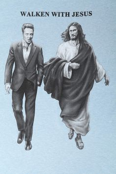 Christopher Walken Meme | Walken With Jesus Tee More
