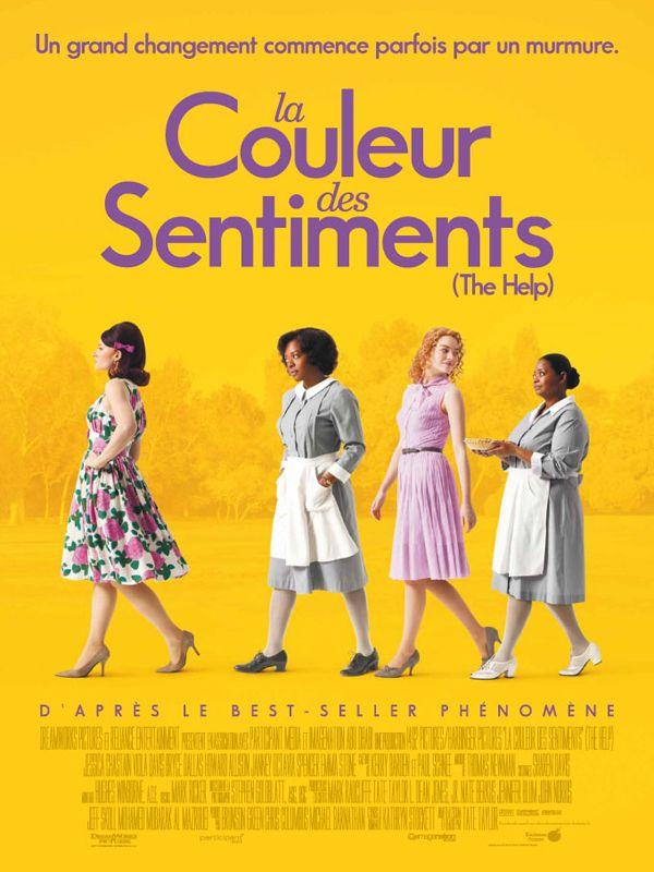 La Couleur des sentiments est un film de Tate Taylor avec Emma Stone, Jessica Chastain. Synopsis : Dans la petite ville de Jackson, Mississippi, durant les années 60, trois femmes que tout devait opposer vont nouer une incroyable amitié. Elles sont