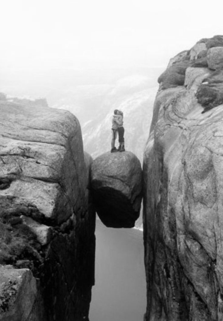 """""""Love you, too""""Photos, Buckets Lists, Mountain, True Love, Pictures, Places, Rocks, Kisses, Norway"""