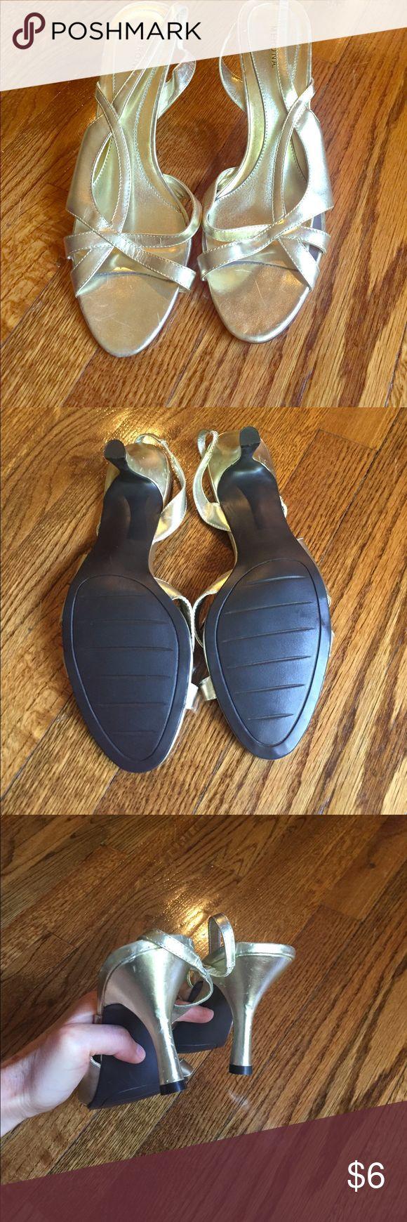 Gold dress sandals Gold dress sandals Merona Shoes Sandals