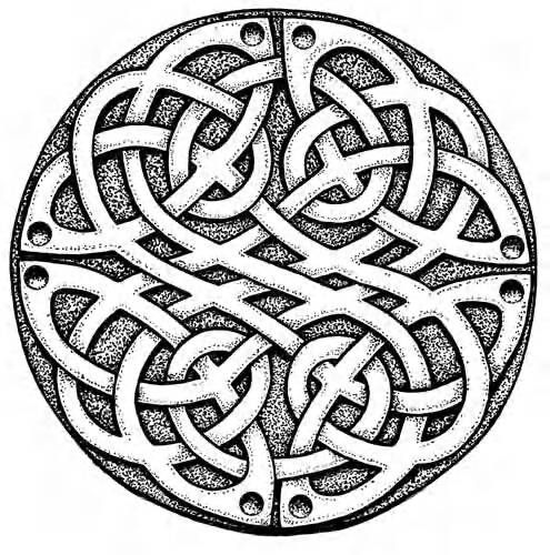 Celtic Knot Coloring Pages, celtic shield colouring pages
