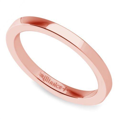 RosamariaGFrangini | My Pink Jewellery | Wedding Jewellery | Flat Wedding Ring in Rose Gold (2mm) www.brilliance.com