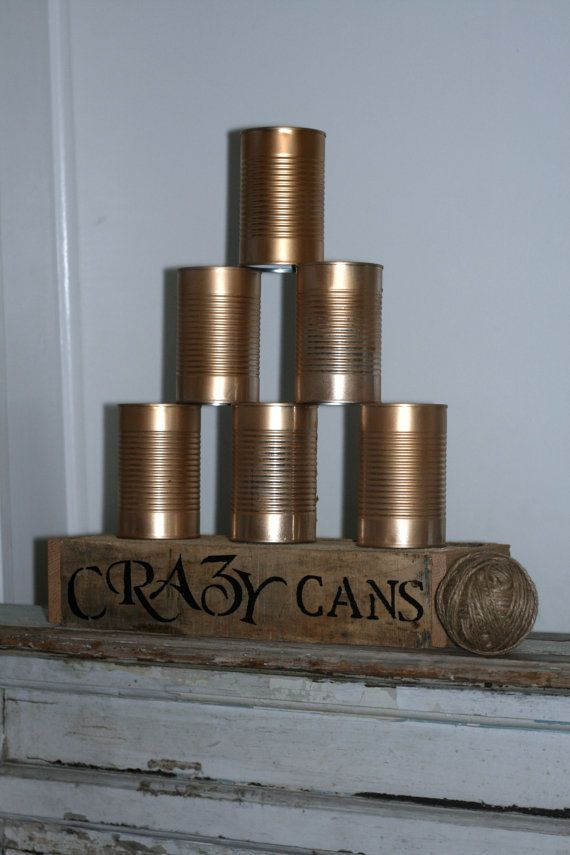 Hey, I found this really awesome Etsy listing at https://www.etsy.com/listing/195770452/crazy-cans-game-for-rustic-country