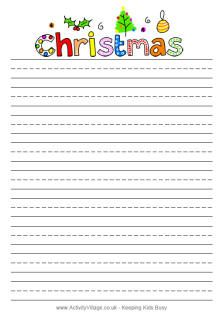 Christmas writing paper-free printable.  Letter to Santa- lots of designs. :)