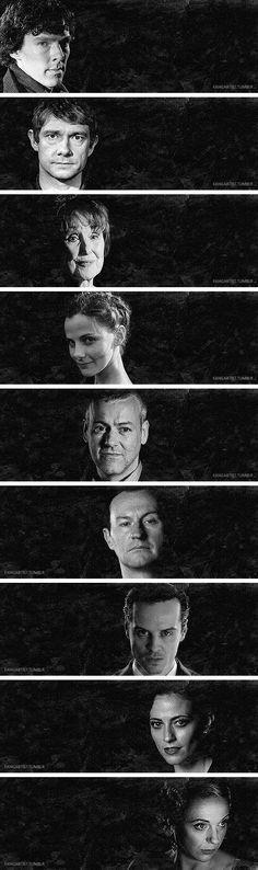 Faces of Sherlock #Sherlock #BBC