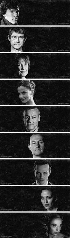 Faces of Sherlock #Sherlock #BBC