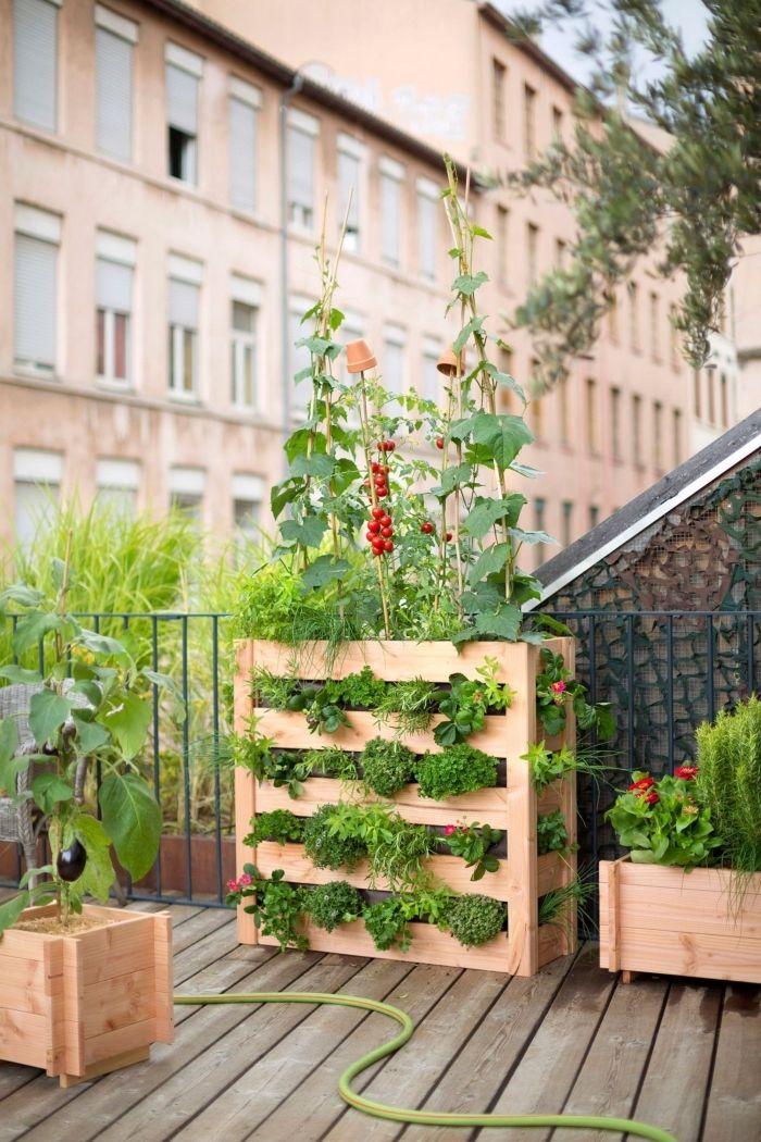 1001 Idees Pour Amenager Un Jardin Ou Potager Vertical Faire Un Potager Potager Vertical Et Palette Jardin