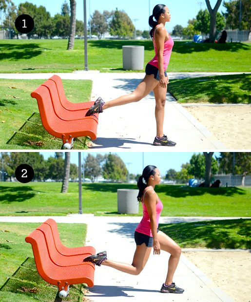 Lunges , 6 Strength Training Moves You Can Do with a Park Bench - (Page 6)