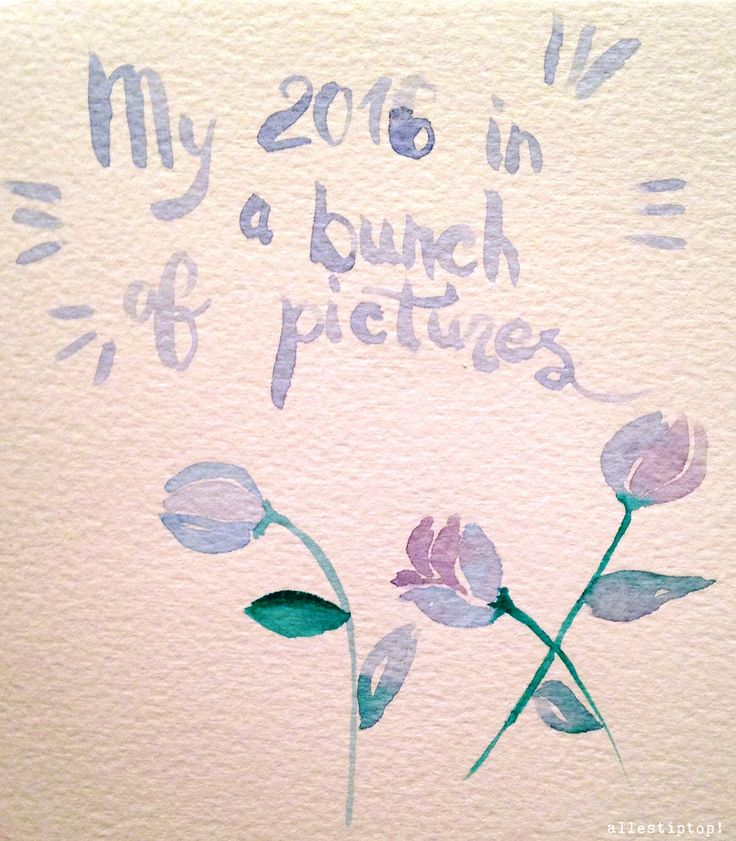 How I'm waiting, this year, for the end of the year: my 2016 in a bunch of pictures