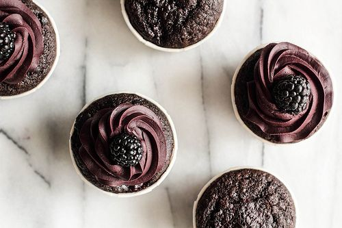 Chocolate Blackberry Cupcakes by pastryaffair, via Flickr