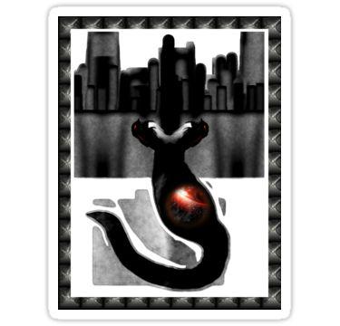 City Serpent Sticker by StickerNuts