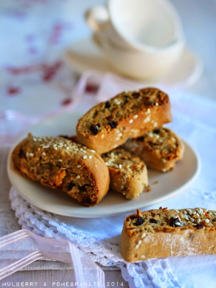 These beautiful, cinamon and clove spiced cookies are the Greek version of biscotti. Where the Irish drink tea to sooth the soul, paxima...