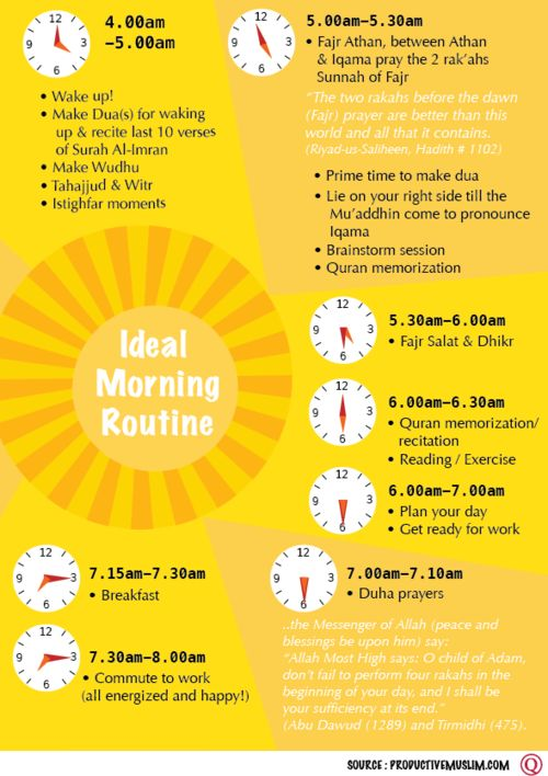Lets sow in excellent morning habits!