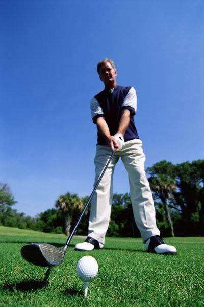 Proper golf driver swing