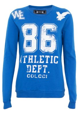 Blusa Moletom Colcci Comfort College Azul