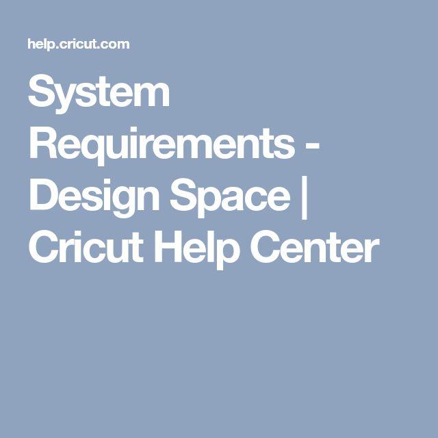 System Requirements - Design Space | Cricut Help Center
