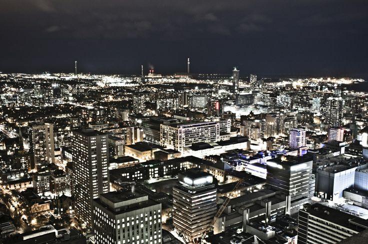 The Beautiful Night Lights Of Toronto
