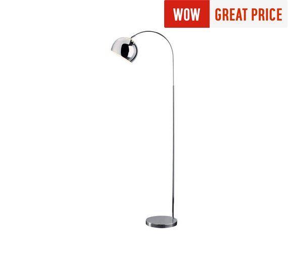Buy HOME Curva Floor Lamp - Chrome at Argos.co.uk, visit Argos.co.uk to shop online for Floor lamps, Lighting, Home and garden