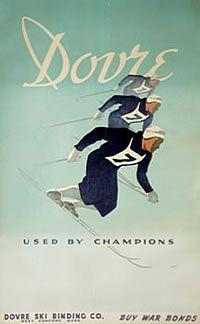 vintage ski poster Designer:G. Hansen Norway 1950