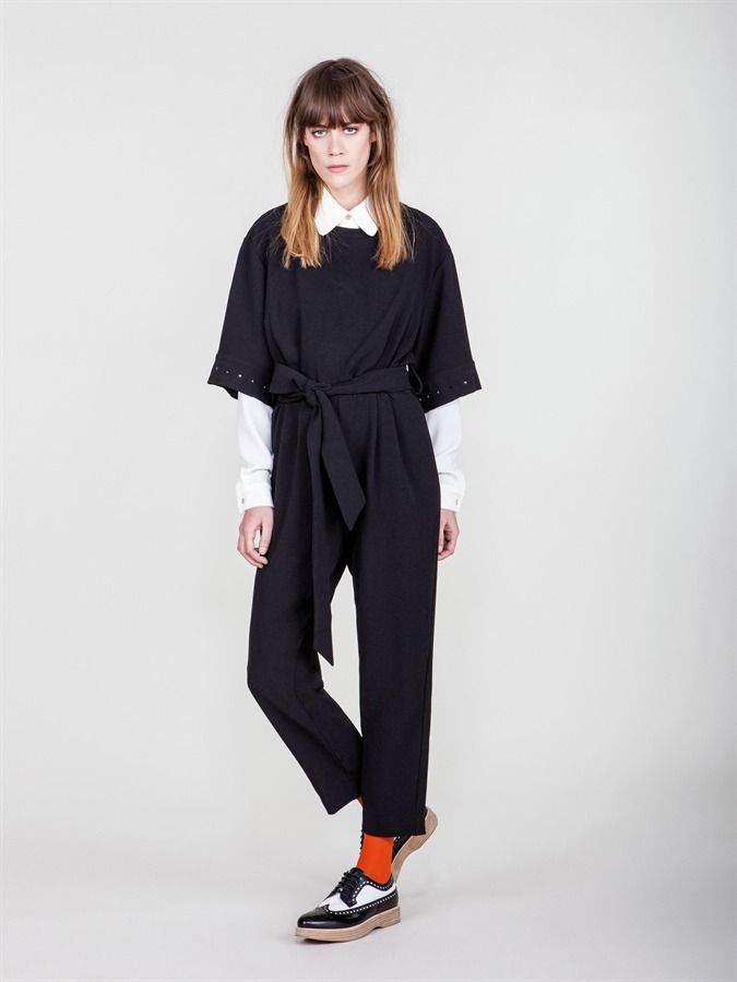 Naughty Dog FW1617 3/4 sleeves jumpsuit made of soft viscose crepe