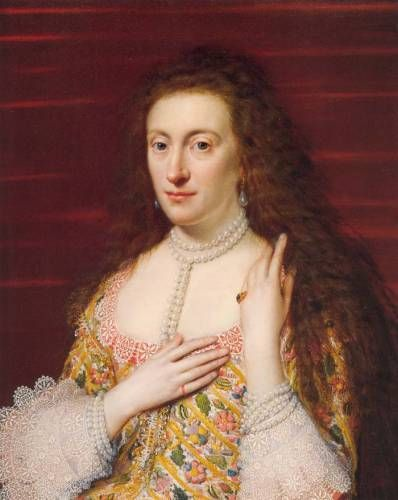 Elizabeth of England, Queen of Bohemia, daughter of James I, sister of Charles I and goddaughter of Elizabeth I.