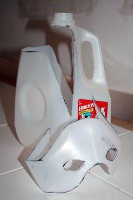 Filth Wizardry: Milk jug bat masks