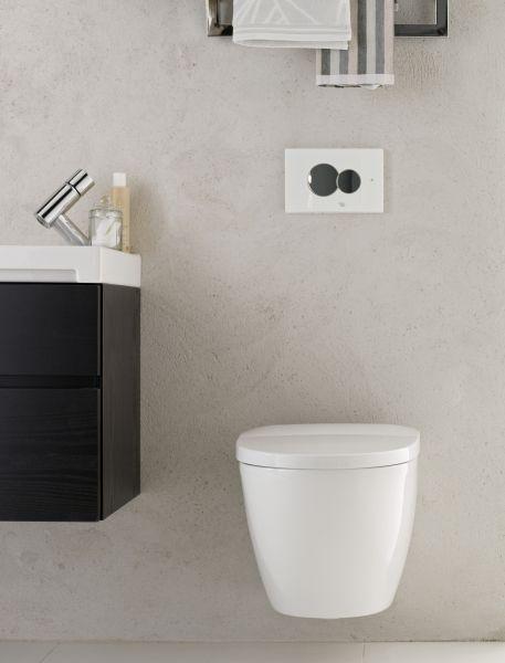 Seinä-wc on hyvä valinta muun muassa silloin, kun tilassa on lattialämmitys, sillä lattiaan ei tarvitse tehdä ylimääräisiä reikiä.