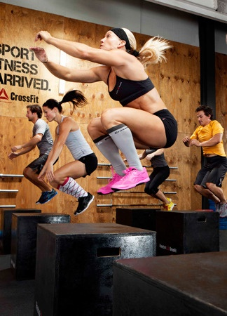 "Pretty sure this is how my trainer is trying to get me to do box jumps.  ""Look up!  Not at the box.  Knees to chest."""