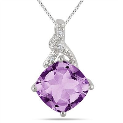 100 best diamond fashion pendants images on pinterest pendant 350 carat cushion cut amethyst and diamond pendant in 925 sterling silver audiocablefo