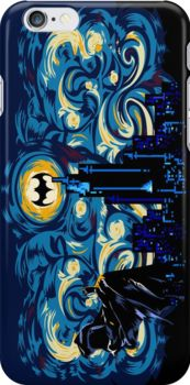 Dark Blue Starry Knight Abstract by Dadang Lugu Mara Perdana