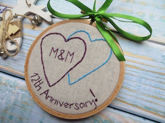 4th 12th Wedding Anniversary Gift For Men Wife Linen Anniversary