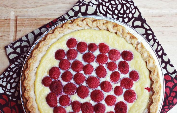 Ricotta raspberry pie. Low sugar and super simple, especially if you do a pre-made crust.