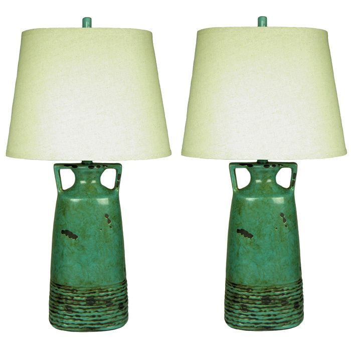 Add a unique flair to your home or office with the Rustic Teal Table L& set  sc 1 st  Pinterest & 113 best Ceramic Lighting images on Pinterest | Ceramic lamps ...