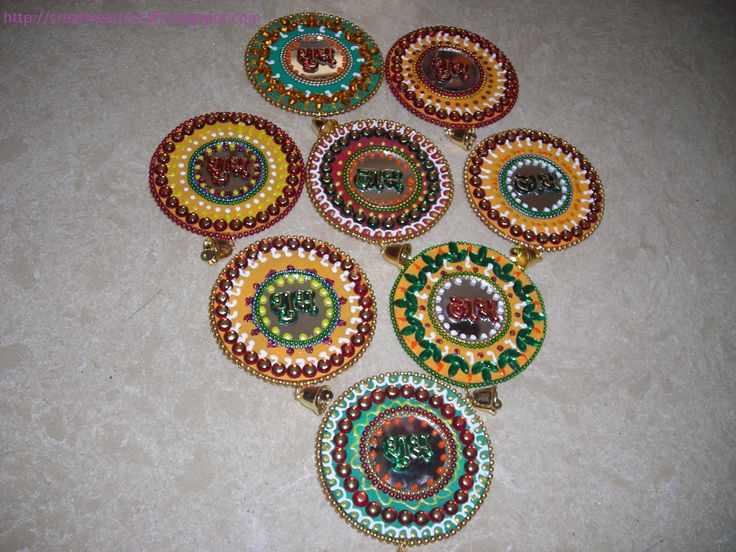 Diy cd wall hanging diwali decor pinterest wall for Art and craft for diwali decoration