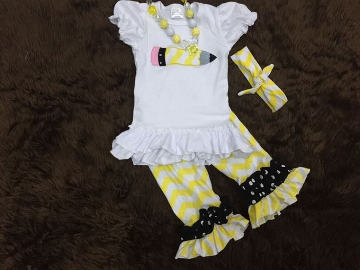 Back To School 3pc  Chevron Set